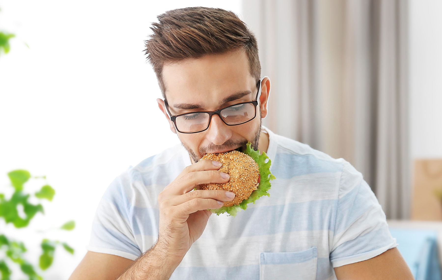 Image of person eating